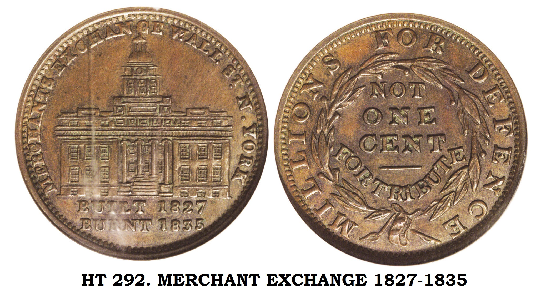 HT-292. MERCHANT EXCHANGE 1827-1835
